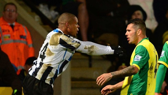 Loic Remy and Norwich's Bradley Johnson were both sent off during their sides' encounter