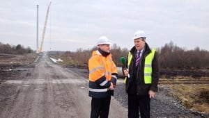 John Reilly was speaking at the construction site for the tallest wind turbine in Ireland at Mount Lucas in Co Offaly