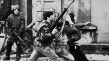 Paratroopers opened fire during a civil rights march in Derry's Bogside in 1972
