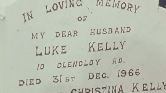 Luke Kelly's Parents Gravestone