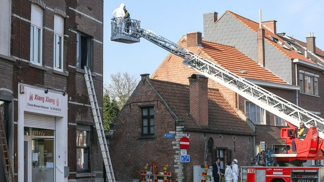 The fire service said it was not yet possible to say what caused the fire (Pic: EPA)