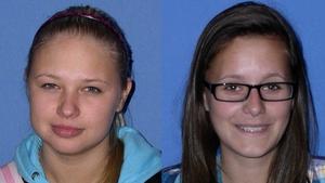 Dace Zarina (L) and Sara Gibaldo both died in the blaze
