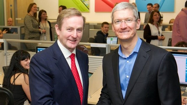Tim Cook was in Apple's Co Cork facility for the opening of a new extension