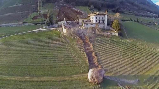 The 300-year-old barn was destroyed by the massive boulder (Pic: Newsflare.com)