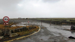 The carpark for the Doolin2Aran ferry is washed away (Pic: Doolan2Aran Ferris)