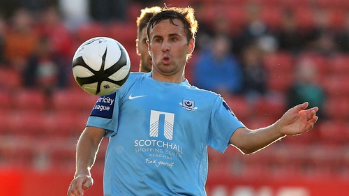 David Cassidy in action for Drogheda United last season