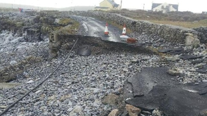 Roads on Inis Mór were destroyed in the storm