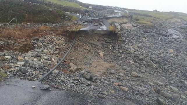 Roads on Inis Mór were badly damaged
