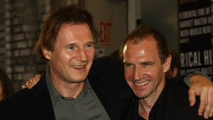 Liam Neeson with best mate Ralph Fiennes