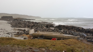 Pier at the East End on Inishbofin reduced to rubble in places (Pic: Simon Murray)