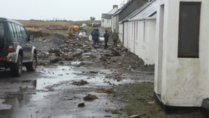 Severe storm damage on Inishbofin (Pic: Simon Murray)