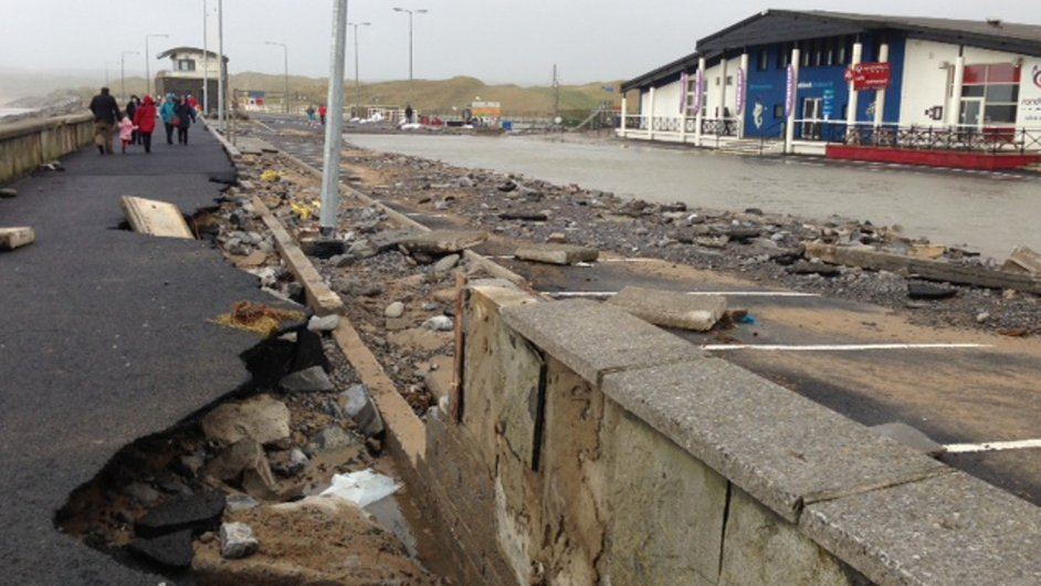 Promenade at Lahinch, Co Clare was badly damaged again