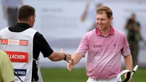 Stephen Gallacher shot a spectacular 63 on the third day in Dubai to take the lead
