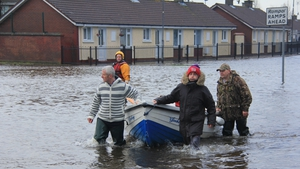 Homes in parts of Limerick city were badly flooded (Pic: Sasha Ninkovich)