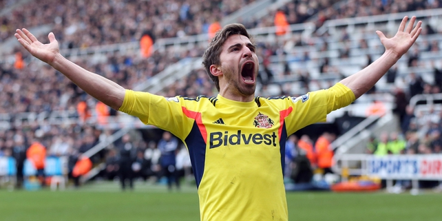 Fabio Borini celebrates after scoring the opening goal