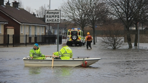 Boats to the rescue in Limerick city (Pic: Sasha Ninkovich)