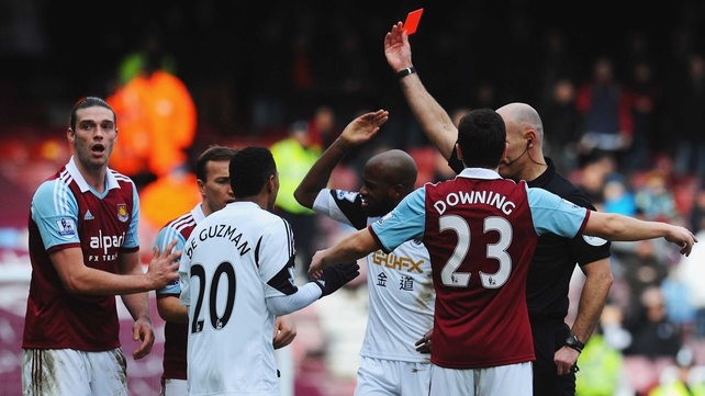 West Ham continue to appeal Andy Carroll's red card