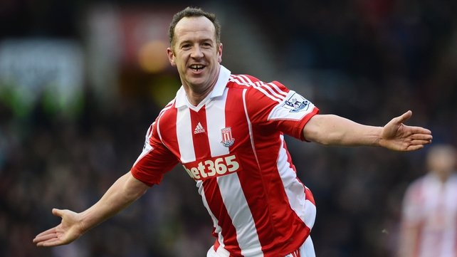 Charlie Adam celebrates scoring the opening goal