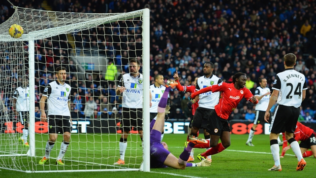 Kenwyne Jones scores the winner for Cardiff