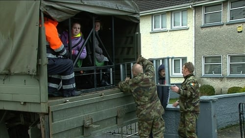Defence Forces evacuate people in flooded areas