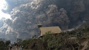 Ash cloud from Indonesia's Mount Sinabung