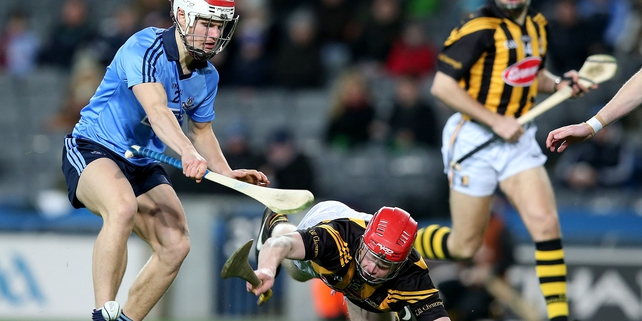 Dublin's Cian O'Callaghan and Thomas Breen of Kilkenny in action in the final