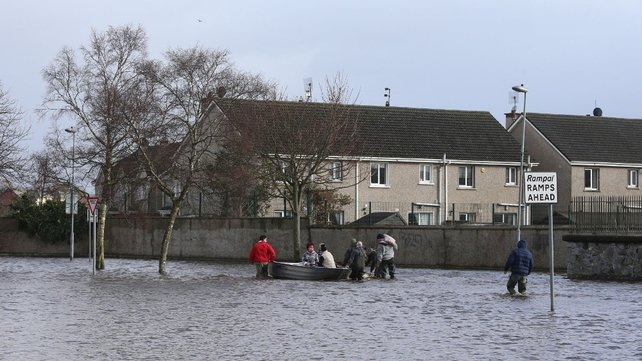 Flash floods raced through the Lee Estate in Limerick