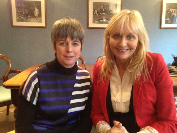 Louise O'Keeffe and Miriam O'Callaghan
