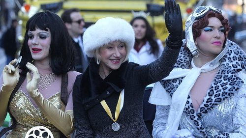 Helen Mirren pictured with her Hasty Pudding friends