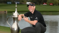 Stephen Gallacher gives his reaction to his battling win in the Dubai Desert Classic