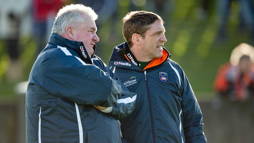 Paul Grimley (L) pictured with Kieran McGeeney