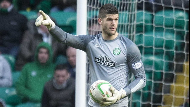 Fraser Forster withstood a couple of nervous moments to keep a clean sheet for Celtic