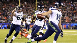 Jermaine Kearse touches down in the third quarter for the Seahawks