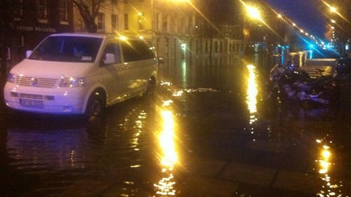 There was extensive flooding at South Mall in Cork this morning