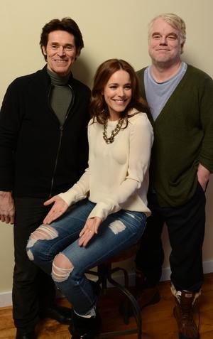 Willem Dafoe, Rachel McAdams, and Philip Seymour Hoffman in 2014