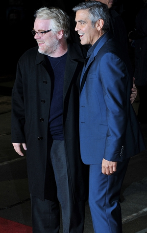 Philip Seymour Hoffman and George Clooney in 2011