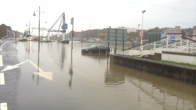 The quays in Waterford are closed this morning