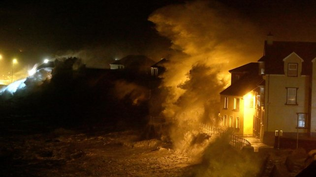 Lahinch in Co Clare took a battering over the weekend