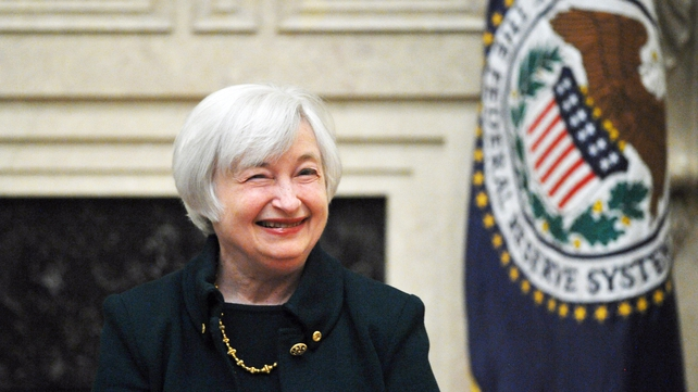 Janet Yellen's remarks at her first news conference as Fed chief pointed to a more aggressive path on rates