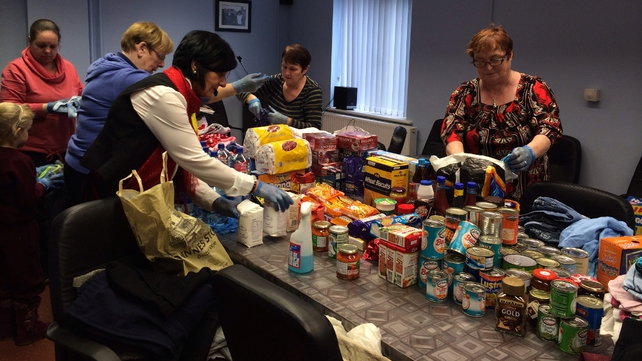 Organising supplies for Limerick flood victims