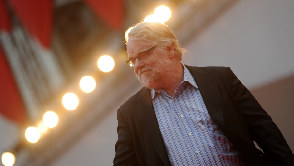 Philip Seymour Hoffman arriving for the screening of The Master during the 69th Venice Film Festival in 2012