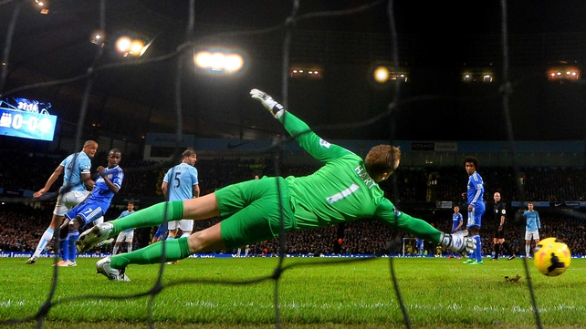 Joe Hart could do nothing about Branislav Ivanovic's goal