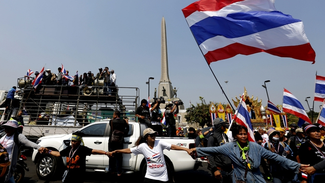 There is no sign of an end to the protests in Bangkok (Pic: EPA)