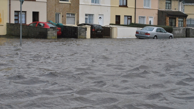 Parts of Limerick city were badly hit by flooding over the weekend (Pic: Michael Cantillon)