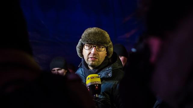 Arseniy Yatsenyuk has asked for €11bn in aid