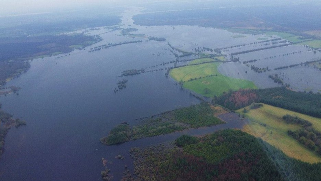 Flooding across the midlands (Pic: Irish Air Corps)