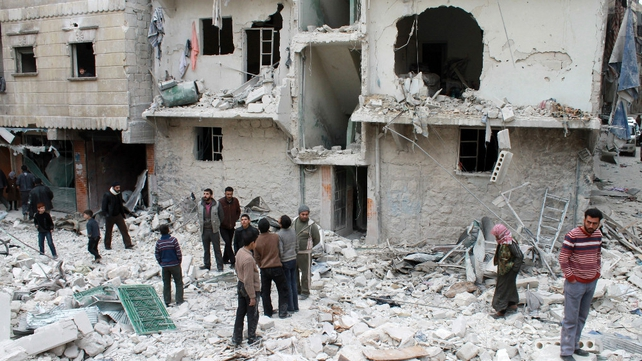 The Syrian regime has launched a fierce aerial bombardment on rebel-held areas of Aleppo