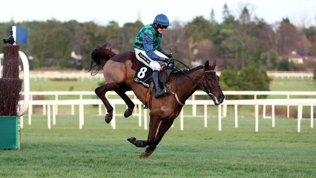 Rubi Ball clearing the last in the Lexus Chase at Leopardstown