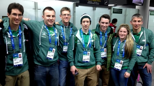Members of the Irish team for the 2014 Winter Olympics