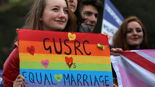 Equality Network held a rally outside the Scottish Parliament as ahead of the final vote today
